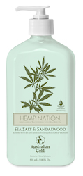 Tan Extenders: Hemp Nation Sea Salt & Sandalwood Tan Extender 535ml Pump Bottle