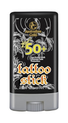 After-Tan Extenders & Sunbed Accessories: Australian Gold SPF50+ Tattoo Stick